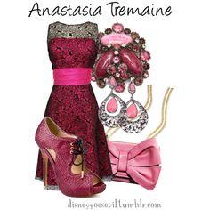 """Anastasia Tremaine"" by disney-villains on Polyvore. Love the dress"