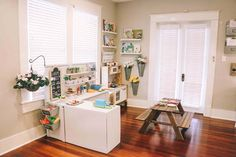 """This pretend play project has been in my head for a while and I was so excited that Ben helped me make it come to life! We created a designated play kitchen/market area that sparks their imagination and gives them a space to have fun all together. I had been watching how the kids play and figured out the best set up for all four of them. I saw how they could use a little more counter top space and shelves because they love laying it all out. They needed a counter area for a """"market"""" but ..."""