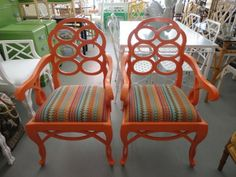 Orange Lacquered LOOP Chairs for the Office :)