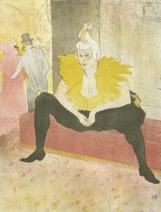 Seated clowness (Mademoiselle Cha-u-ka-o) (La clownesse assise (Mademoiselle Cha-u-ka-o)) from the series Elles, 1896, Henri de Toulouse-Lautrec, Van Gogh Museum, Amsterdam (Vincent van Gogh Foundation)
