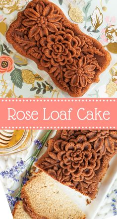 This delicately flavored loaf cake has a delightful, light scent of rose petals, thanks to the addition of rose water. It lends a wonderful, floral flavor to this beautiful Wildflower loaf design. Enjoy with a dollop of rose whipped cream, pistachios, and dried edible rose petals for an exceptional dessert.