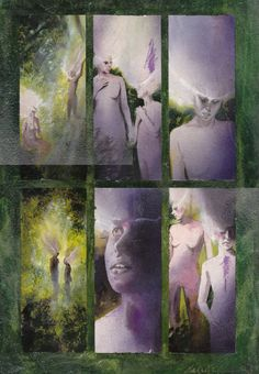 Black Orchid page by Dave Mckean