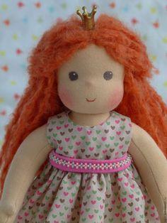 Купить Принцессочка - рыжий, вальдорфская кукла, вальдорфская игрушка, вальдорфская кукла купить