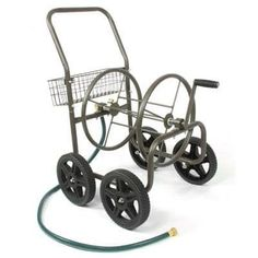 Liberty Garden Products 871-S Residential Grade 4-Wheel Garden Hose Reel Cart, Holds 250-Feet Of 5/8-Inch Hose - Bronze