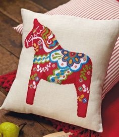 Dala Horses, or Dalahäst in Swedish, – first created by woodcutters as children's toys, but over the years they've grown to become an icon of Sweden. There are four charts here in different sizes and colors.  Felicity Hall cross stitch ideas or visit Fel