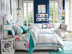 I love the PBteen Raleigh Ribbon Bedroom on pbteen.com