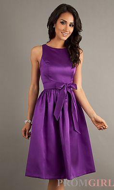 Knee Length Sleeveless Dress at PromGirl.com