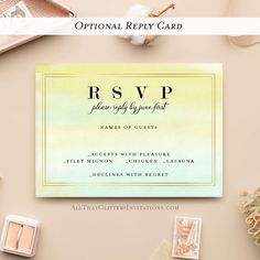 Watercolor Modern Wedding Invitation - 125 Cards with Envelopes ($2.50 each) / 125 RSVP Cards with Envelopes / 125 Insert Cards