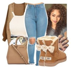 A fashion look from September 2016 by gabb-slayy featuring UGG Australia and Ray-Ban Cute Swag Outfits, Cute Outfits For School, Chill Outfits, Dope Outfits, Outfits For Teens, Casual Outfits, Batman Outfits, Teenager Fashion Trends, Teen Fashion Outfits