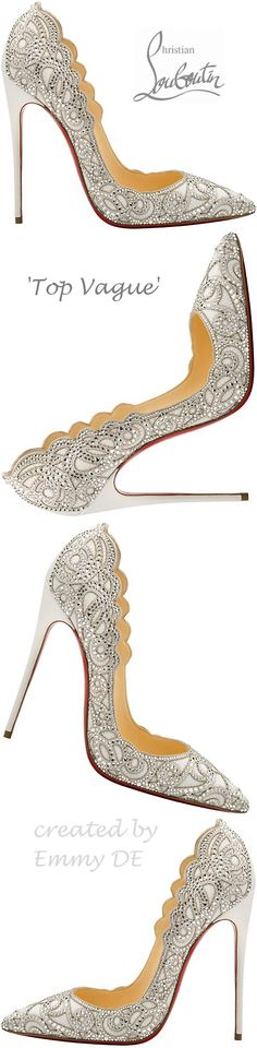 Found my wedding shoes!! Christian Louboutin 'Top Vague' Spring 2015