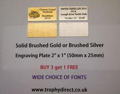 Metal Trophy Plates - Picture Plates - Trophy Plaques - Trophies & Engraving
