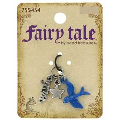 Fairy Tale by Bead Treasures Antique Silver & Blue Bird, Star & Wish Charm Set | Shop Hobby Lobby