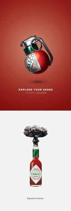 advertising set | Tabasco — Explode Your Senses | creative ads | Pinterest Tabasco Campaign / creative adds / advertisement