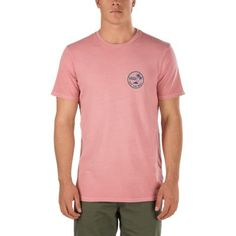 The Vintage Mini Palm T-Shirt is a 100% combed cotton t-shirt with a vintage overdye and classic left chest and back graphics. Fit type: custom. Model is 6 feet tall and wearing a size Medium. Made from imported materials.
