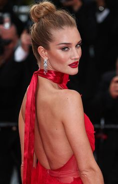 Rosie Huntington-Whiteley at the premiere of 'The Unknown Girl' (La Fille Inconnue) during the 2016 Cannes Film Festival held at the Palais des Festivals in Cannes on May 18, 2016