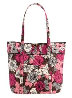 76ccb9f5ca Vera tote by Vera Bradley in mocha rouge. I was thinking about getting this  one but got imes up instead