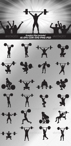 Weightlifter Silhouettes - Sports/Activity Conceptual