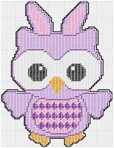 Owl in bunny costume