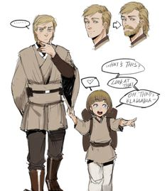 "Anakin: ""Bla blah blah blah   Obi-Wan: ""I should grow a beard..."""