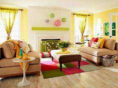 Living Room Colors   For the Home   Pinterest   Bright color schemes ...