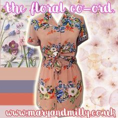 Must have floral Co-ord now with £10 off!! Not forgetting we are offering buy one get one half price off everything today at the boutique!!! Pick up a payday treat at 21 Guildhall Street, Preston City Centre. Or shop online with FREE UK DELIVERY at www.maryandmilly.co.uk