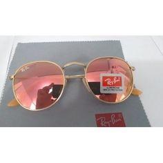 Óculos Redondo 3447 Round Rosa Espelhado John Lennon Rose - R$ 99,99