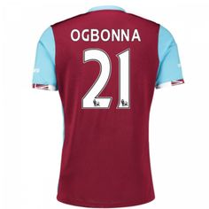 West ham Jersey 2016/17 Home Soccer Shirt #21 Ogbonna