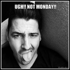 Monday ugh!! Jonathan Knight