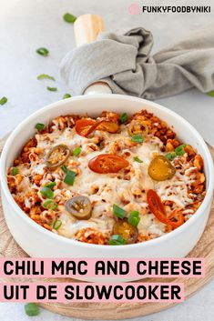 Slowcooker chili mac & cheese - FunkyFood by Niki Chili Mac And Cheese, Mac Cheese, Slow Cooker Chili, Slow Cooker Recipes, Multicooker, Tex Mex, Pasta Recipes, Food Photography, Curry
