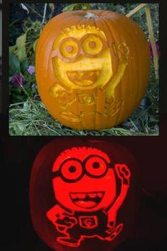 Minion carved Pumpkin