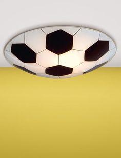 Ceiling mount soccer ball light by Eglo Lighting