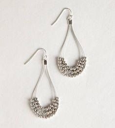Wire and small silver beads