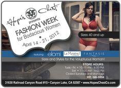 April 14 - Bodacious Women Fashion http://www.eventbrite.com/myevent?eid=2959725619