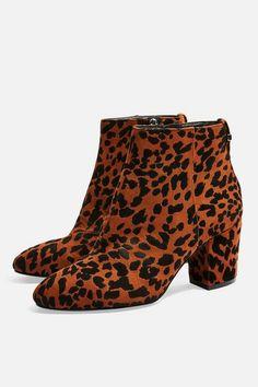 99f497b3c36d Womens   Wide Fit Brittney Leopard Unit Boots - True Leopard. Leopard Print  Ankle ...