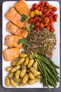 Fusion Salmon Niçoise Salad • each element is delicious on its own • put it all together and you have a very special meal • healthy and delicious • Panning The Globe