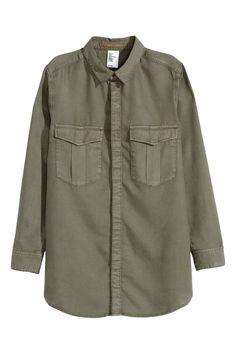 Рубашка карго из лиоцелла | H&M