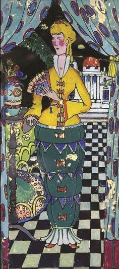 "Wassily Kandinsky - ""Lady with a Fan"", 1917"