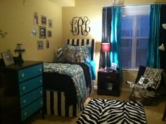 Dorm Room Decorating Ideas blue and black dorm room bedding – Decor 2 Ur Door