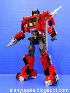 Alanyuppie's LEGO Transformers: LEGO Inferno Part 2: Robot Mode