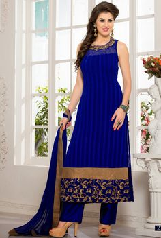 #Royal Blue #Velvet #Readymade #Kameez