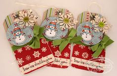 TSG Stamps-SnowBuddies and Snowman sentiments - tags - bjl