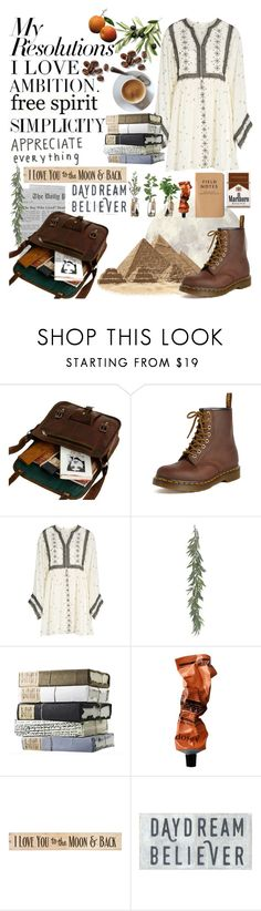 """#PolyPresents: New Year's Resolutions"" by jeaniethewriter ❤ liked on Polyvore featuring 7 For All Mankind, Dr. Martens, Love Like Summer, Aesop, DutchCrafters, contestentry and polyPresents"