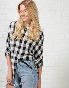 #ARKLOVES > Suki 3/4 Check Shirt #tartanshirt #checkshirt