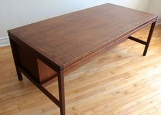 Jens Risom Danish Modern Rosewood Executive Desk