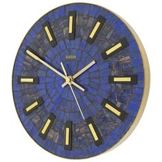 "Round Modernist Mosaic Wall Clock ""Europa,"" Germany, 1950s 