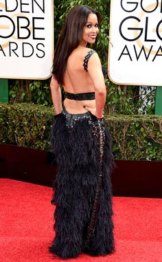 Tracey Edmonds from Worst Dressed at 2016 Golden Globes  We always adore a daring choice on the red carpet, but the back of Tracey Edmonds' dress takes the whole look overboard.