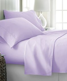 Love this Lilac Egyptian Cotton Sheet Set on #zulily! #zulilyfinds