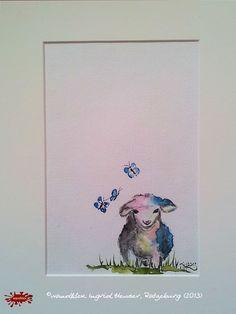 """No. 006 der wandklex-Unikatserie """"Ich war schon immer das Bunte Schaf der Familie"""" - nummerierte Einzelstücke! Ihr eigenes Schaf können Sie als Ihr Designerstück von wandklex® Ingrid Heuser, Ratzeburg, Germany bestellen:  im kleinen Klexshop bei DaWanda auf http://de.dawanda.com/shop/wandklex ©  Kunstatelier wandklex Ingrid Heuser, D-Ratzeburg Besuchen Sie mich auch auf facebook: https://www.facebook.com/wandklex"""