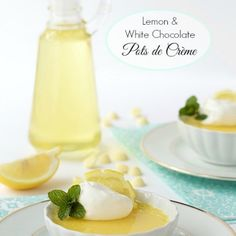 Lemon and White Chocolate Pots de Crème
