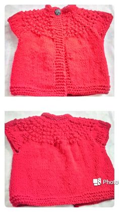 Knitted jacket for the little one